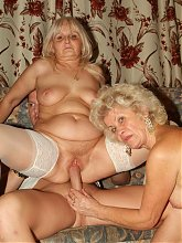 Hardcore grannies Francesca and Erlene get nasty as they get their pussies fucked in this hot threesome live