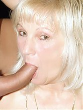 Blonde grandma Remy starts with oral pleasure and gets her pussy banged