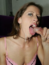 Liza Harper rubbing her MILF pussy while a cock goes in and out of her tight ass